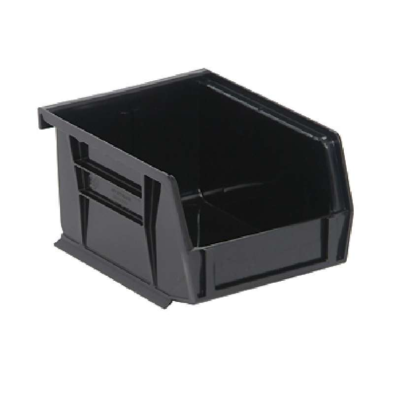 Ultra Stack and Hang Bin, 5-3/8 x 4-1/8 x 3in, Recycled Black, 24 per Case