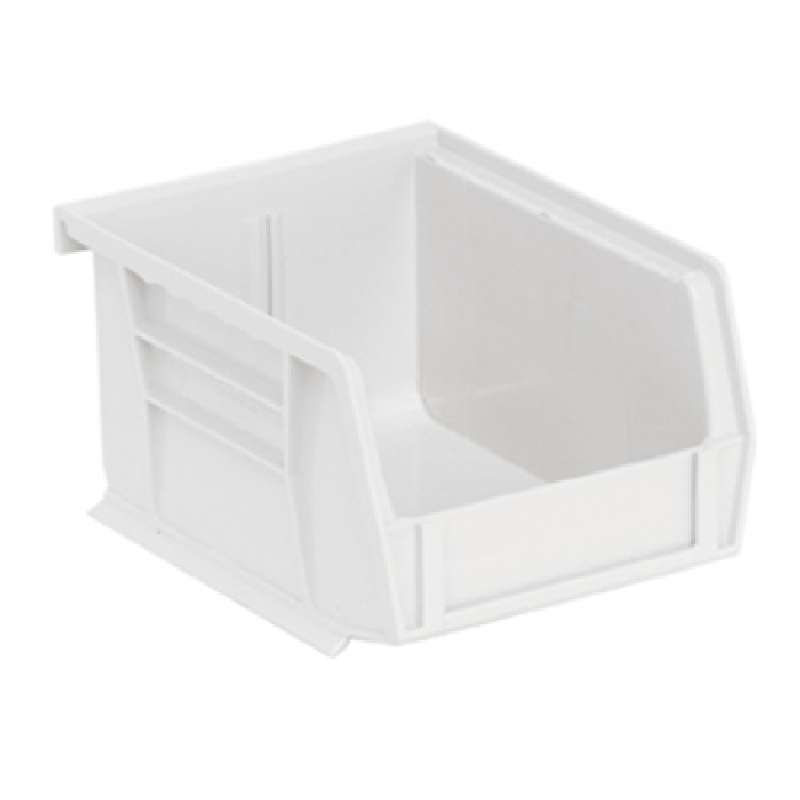 Ultra Stack and Hang Bin, 5-3/8 x 4-1/8 x 3in, Clear, 24 per Case