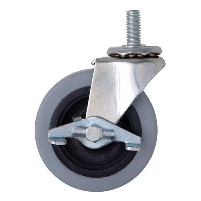 Four Swivel 3in Polyurethane Casters, All with Brake