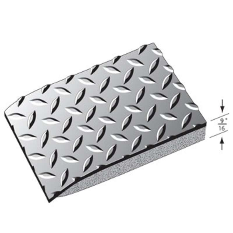 Conductive 2 x 3' Diamond Plate Anti-Fatigue Mat with Snap and 15' Ground Cord, Black