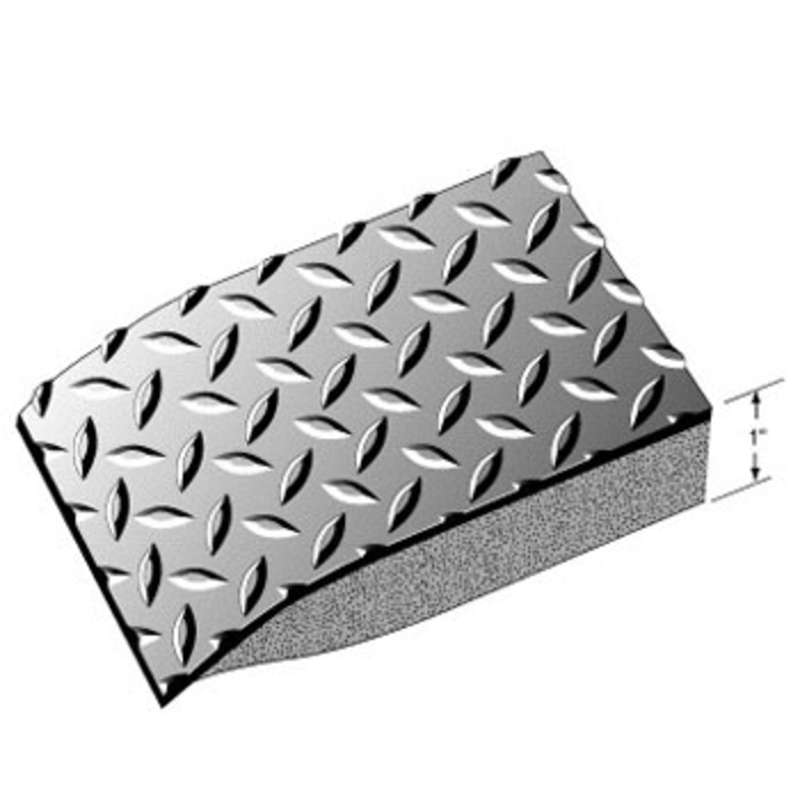 Conductive 3 x 5' Diamond Plate Anti-Fatigue Mat with Snap and 15' Ground Cord, Black