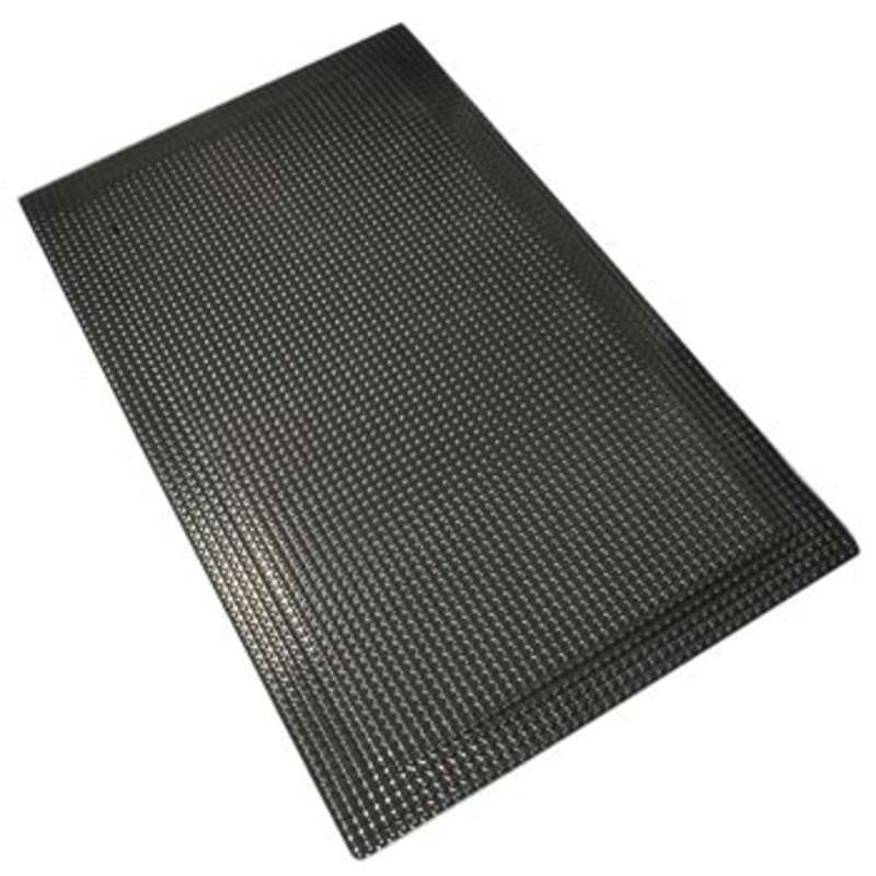 Conductive 2 x 3' Reflex Anti-Fatigue Mat with Snap and 15' Ground Cord, Black