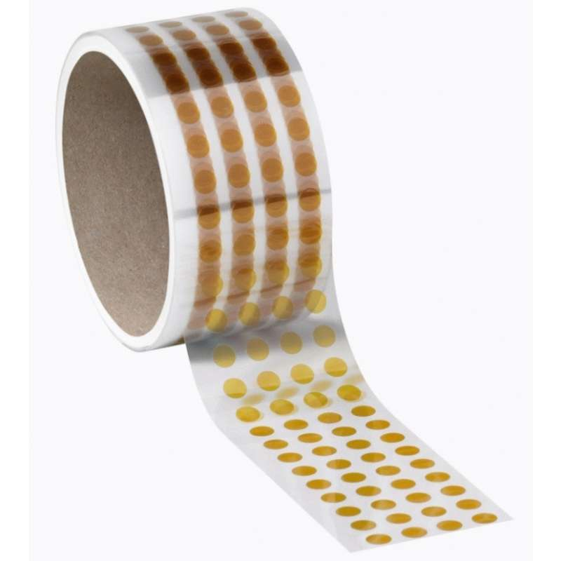 "Kapton Polyimide Amber Masking Discs 2.5mil Thick, 3/16"" Diameter, 2000/Roll"