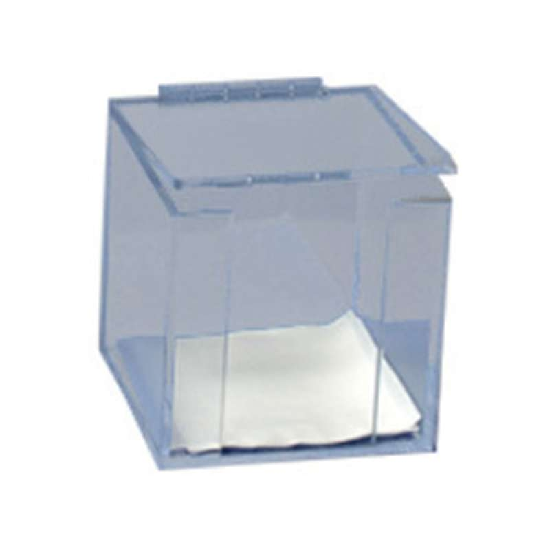 "IPA-Safe PETG Cleanroom Dispenser with Protective Lid for 5 x 5"" Wipers, Clear"