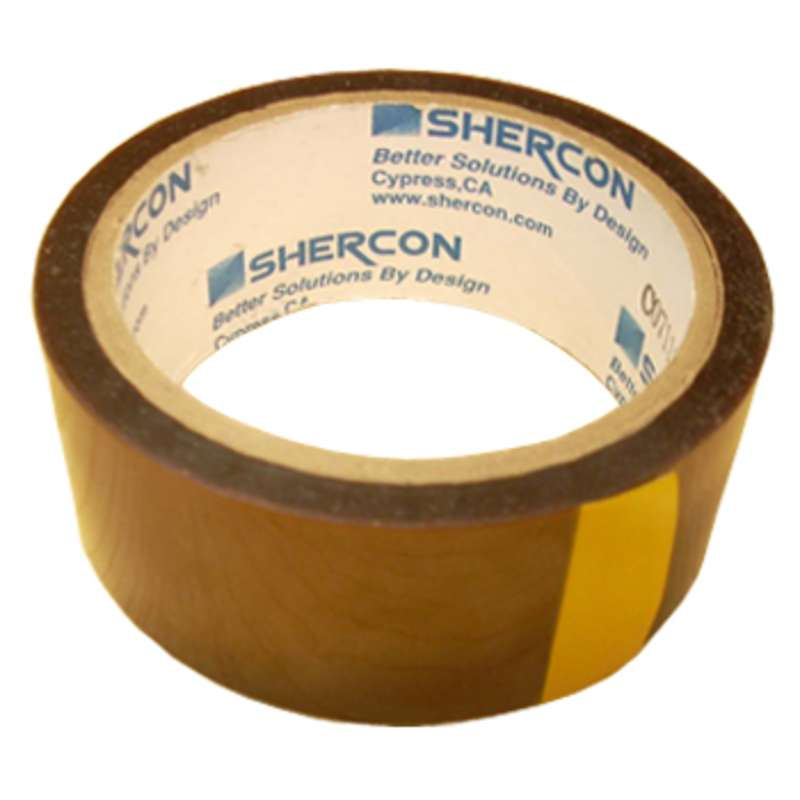 "Kapton® 500° Hi-Temperature 2.2 Mil Polyimide Tape on 3"" Paper Core, 3/8"" x 36yd"