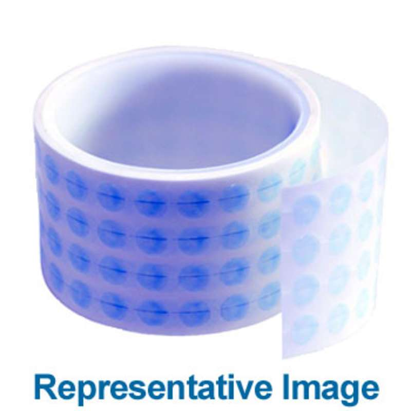 """Water Soluble Biodegradable Masking Discs 2.6mil Thick, 3/8"""" dia., 5000 per Roll"""