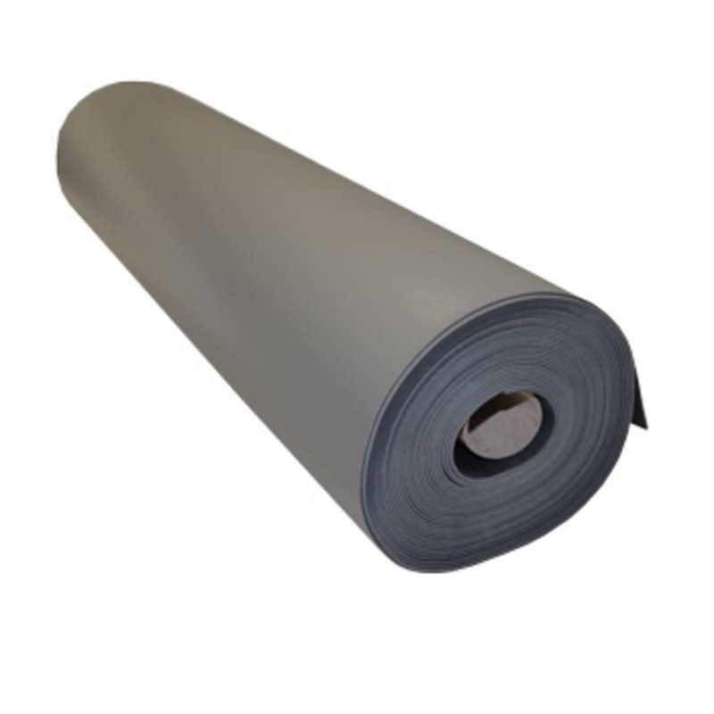"""FS Series 2-Layer Diss/Cond Smooth Econo Rubber Work Top Mat Roll, Grey/Black, 48"""" x 40' x .080"""