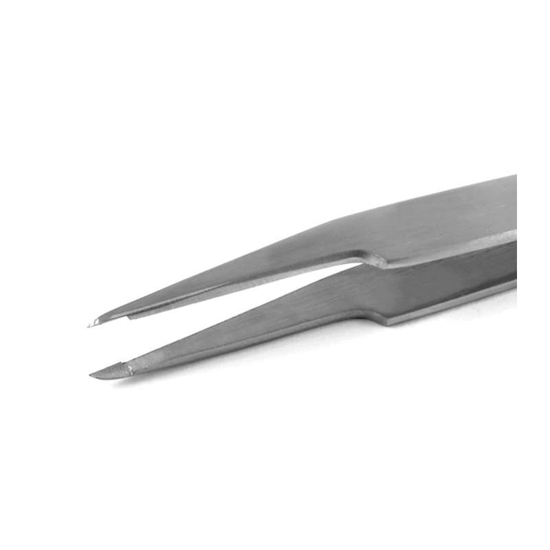 """MC Series Stainless Anti-Acid, Anti-Magnetic Steel Micro Cutting Tweezers with Narrow Rounded Tip, 4-1/4"""" Long"""