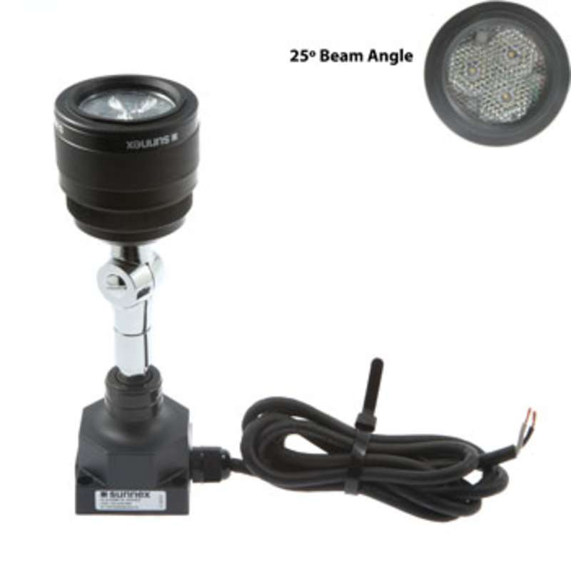 SL9 Series Low Voltage LED Spot Light with Low Square Base and 25° Beam Angle, Black