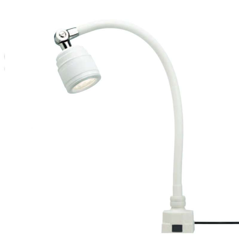 "SL9 Series Low Voltage LED Task Light with 20"" Gooseneck Arm, 25° Beam Angle and Low Square Base, Wh"