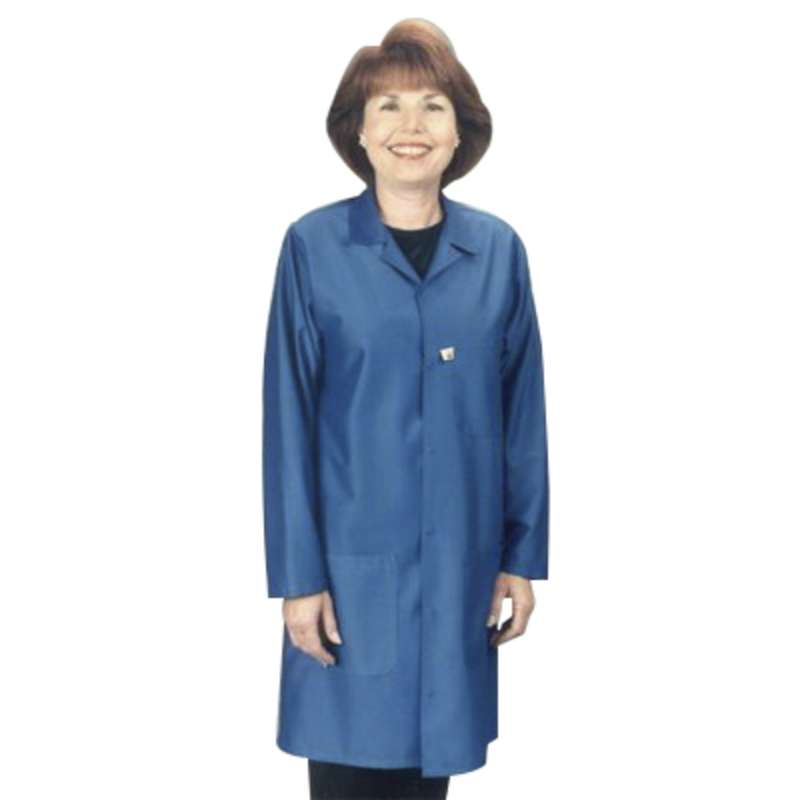 "Traditional, ESD-Safe 40"" Length Coat, IVX-400, White, 3X-Large"