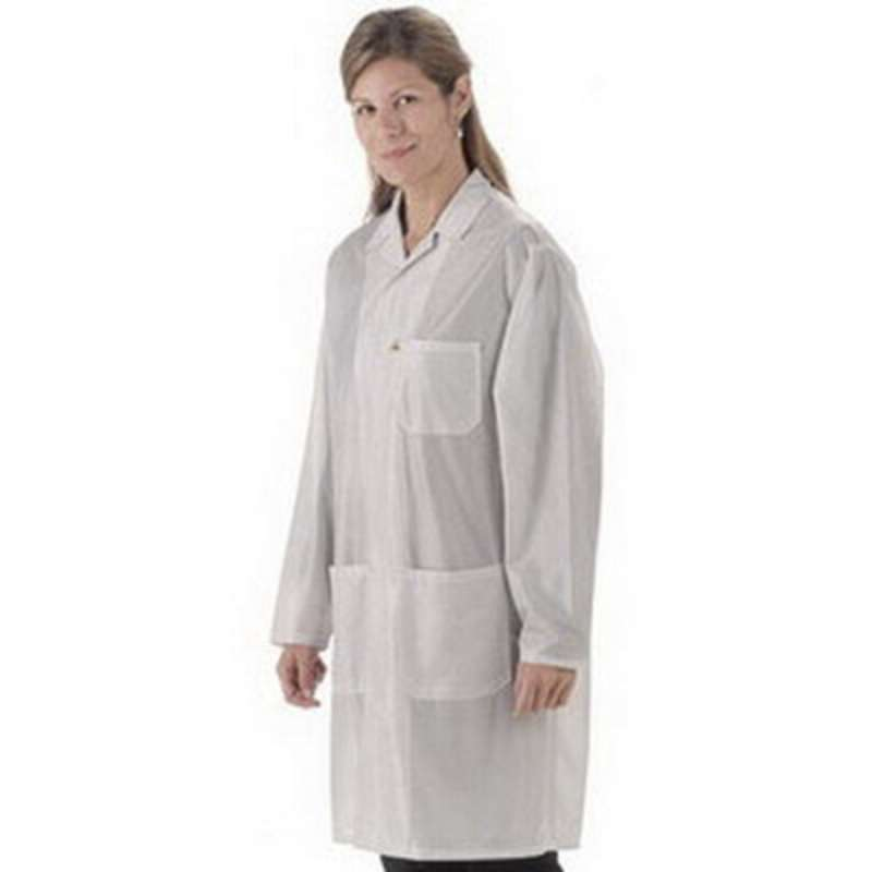 "Traditional, ESD-Safe 31"" Length Jacket, IVX-400, White, X-Large"
