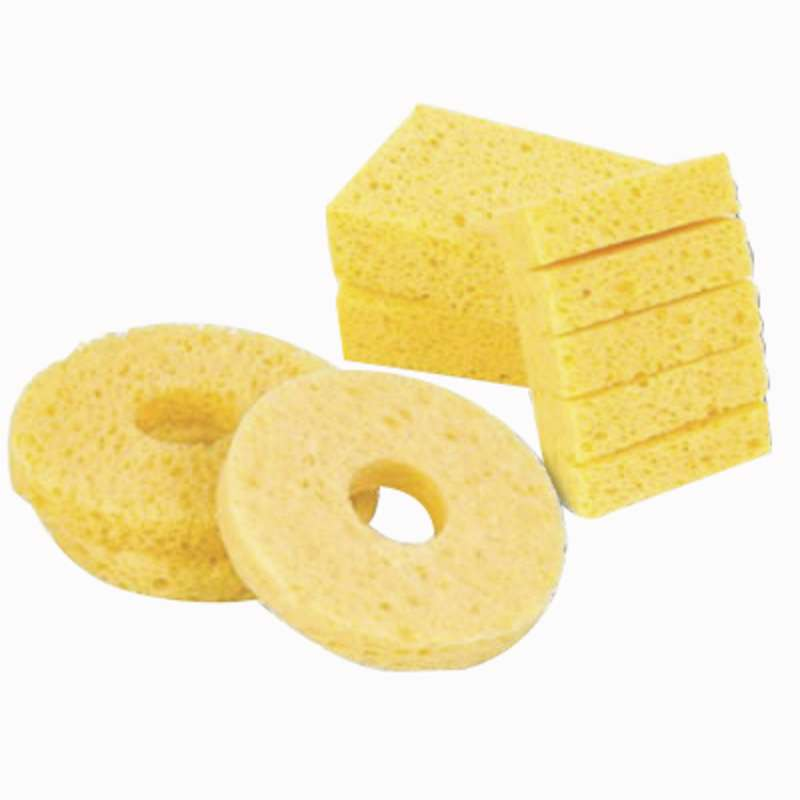 "Solder Tip Cleaning Sponge with Center Hole, 2-1/8 x 1-1/2 x 1"", 10 per Pack"