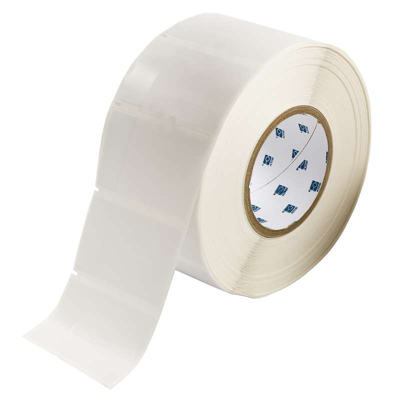 """3"""" Core Series Vinyl Cable and Wire Labels, B-427, White, 3.187 x 1.9 in, 1500 Labels per Roll"""