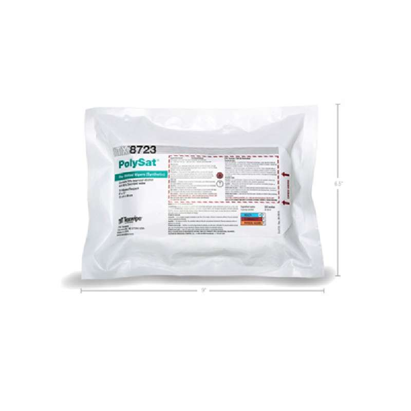 """PolySat® Polypropylene Pre-wetted Wipers, 6 x 11"""", 75 Wipes per Pack"""