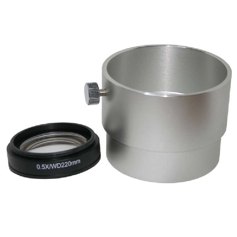 SX45 Series Auxiliary Objective Lens with 220.6mm Working Distance, .5X Magnification