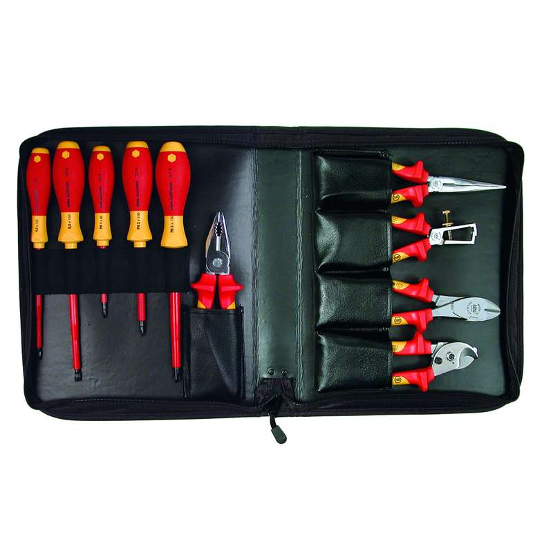 Plier/Screwdriver Set Insulated w/ Cushion Grip 10 Piece