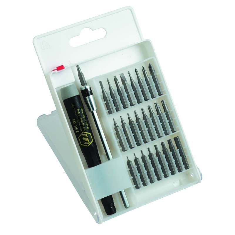 ESD Micro Bit Set 27 Piece Slotted/Phillips/Hex Inch./Torx System 4