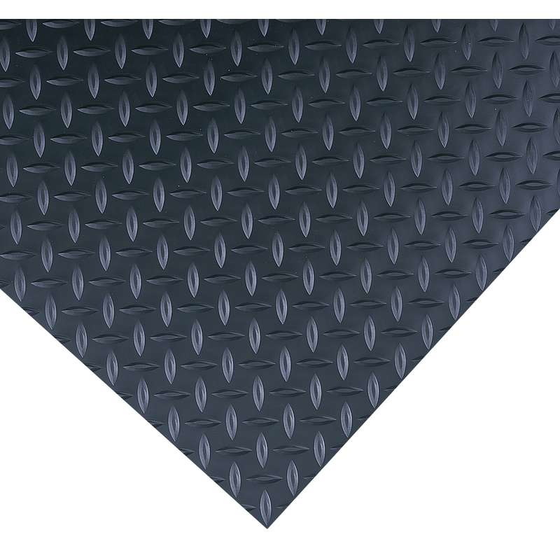 "Insulated Diamond Plate 2 x 75' High Voltage Black SwitchBoard Matting up to 30,000 Dielectric Strength Volts, 1/4"" Thick"