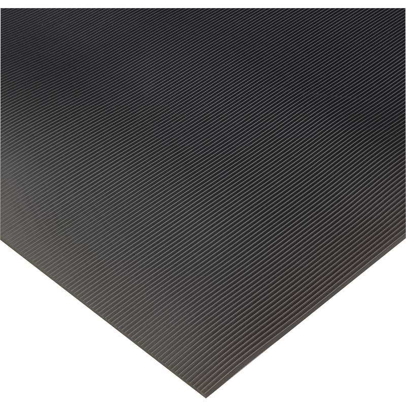 "Insulated Corrugated 3 x 75' High Voltage Black Switchboard Matting up to 30,000 Dielectric Strength Volts, 1/4"" Thick"