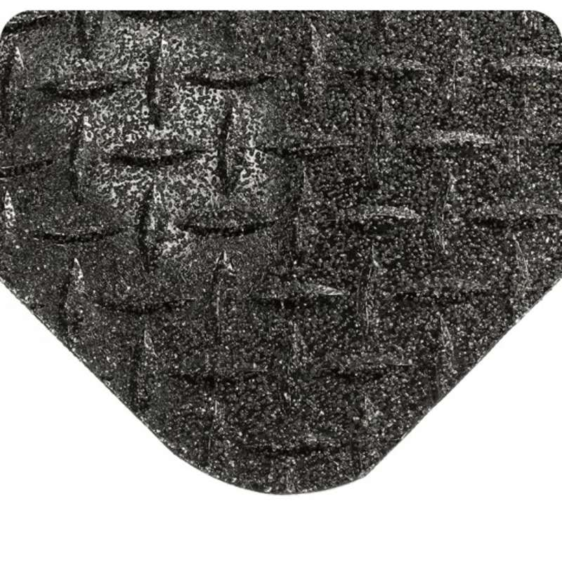 "Non-ESD-Safe GritWorks® 2 x 75' Diamond Plate Black Nitrile Matting with Nitricell® Sponge Base, 15/16"" Thick"