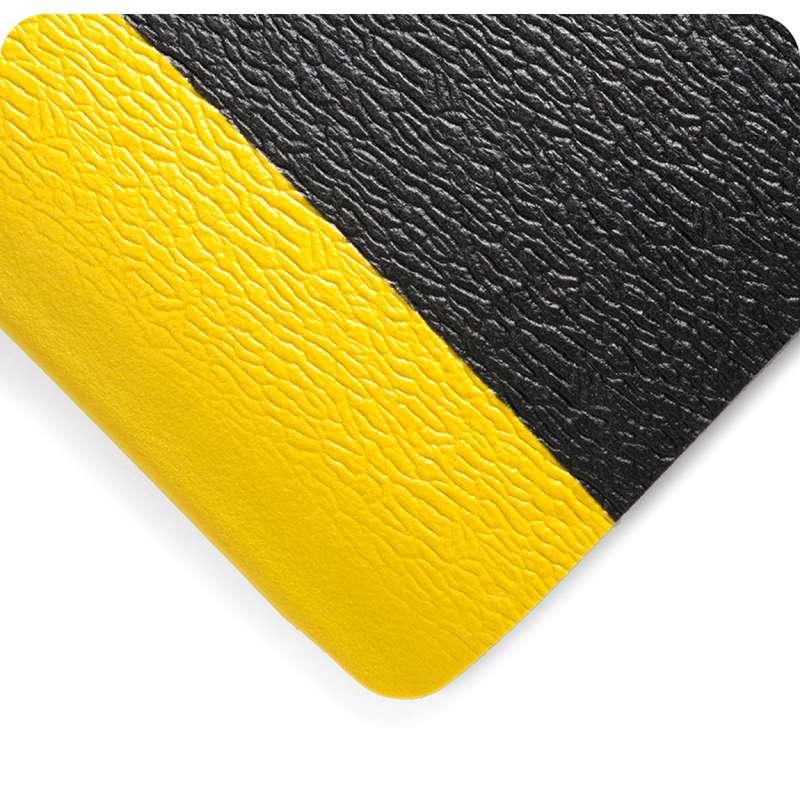 "Deluxe Soft Step 4 x 60' Anti-Fatigue Pebble Embossed Pattern Black Vinyl Sponge Matting, 5/8"" Thick"