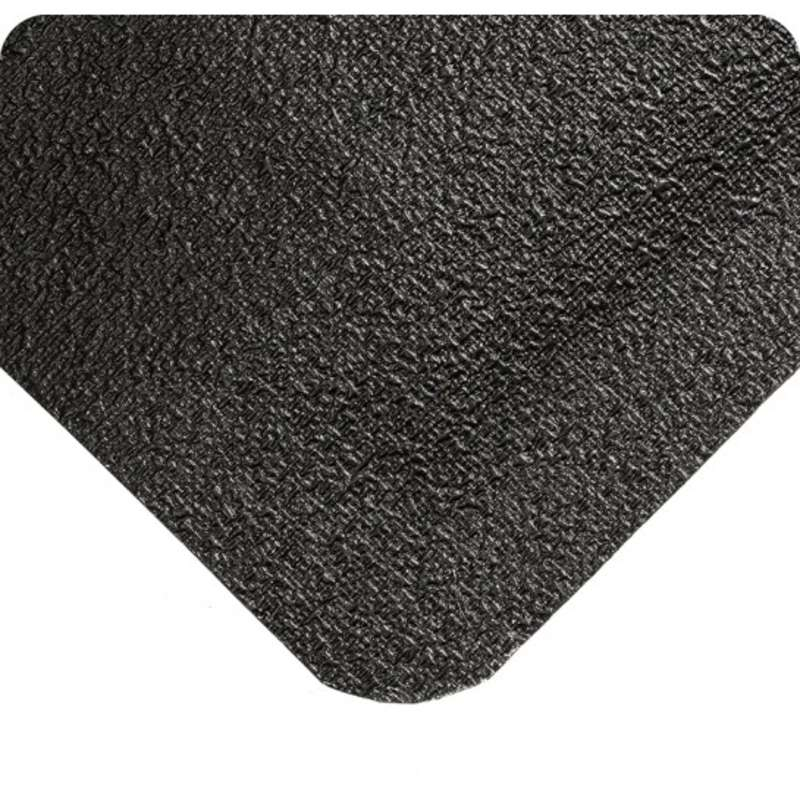 "WeldSafe® 3 x 5' Spark Repellant Black Rubber Matting with Nitricell® Sponge Base, 9/16"" Thick"