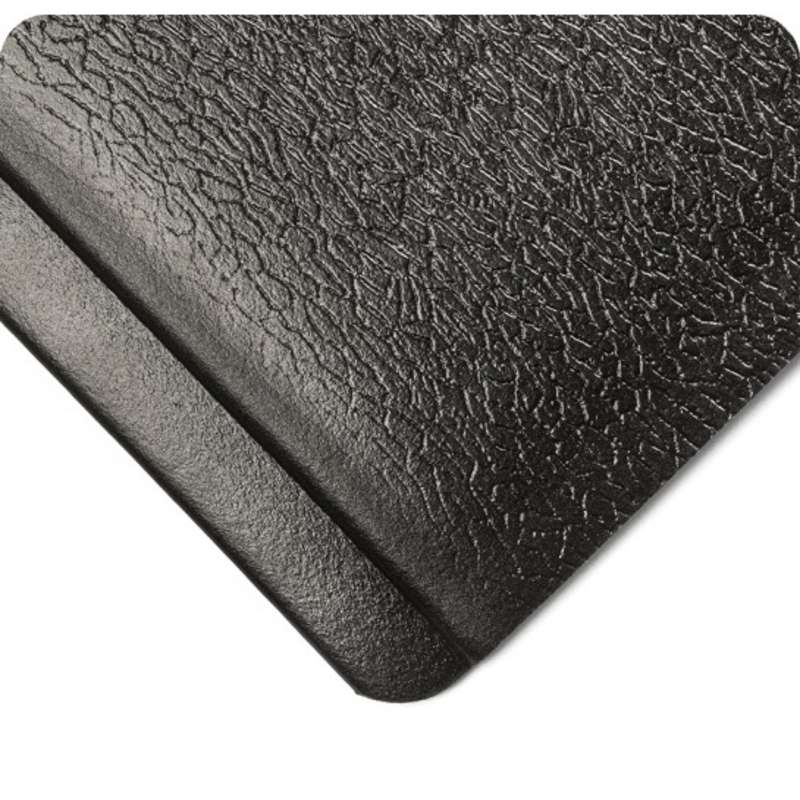 "Endurable 3 x 60' Anti-Fatigue Abrasion Resistant Black PVC Sponge Matting, 1/2"" Thick"