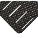 """Non-ESD-Safe Kushion Walk Super Tough 3 x 5' Abrasion Resistant Black Slotted Matting with Beveled Edges, 3/8"""" Thick"""