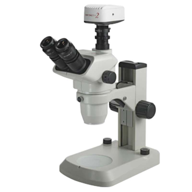 3076 Trinocular Stereo-Zoom Microscope with E-LED Stand, 6.7X-45X Magnification