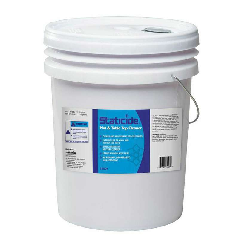 Staticide ESD Mat Cleaner, 5-Gallon Pail