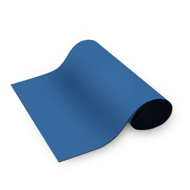 "Dualmat™ 2-Layer Diss/Cond Rubber Matting Roll without a Ground Cord or Snaps, Royal Blue/Black, 48"" x 40' x .080"""
