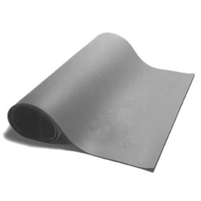 "Dualmat™ 2-Layer Diss/Cond Rubber Matting Roll without a Ground Cord or Snaps, Dark Grey/Black, 24"" x 40' x .080"""