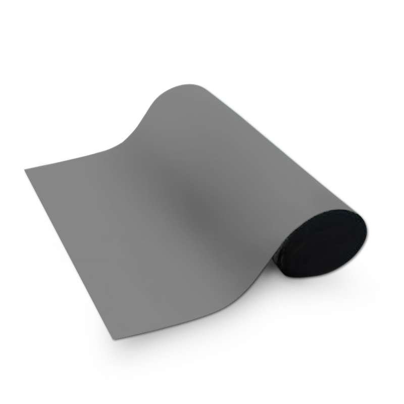 Dualmat® 2-Layer Dissipative/Conductive Rubber Worktop Mat with Two Snaps, Dark Grey/Black, 30 x 60 x .080""
