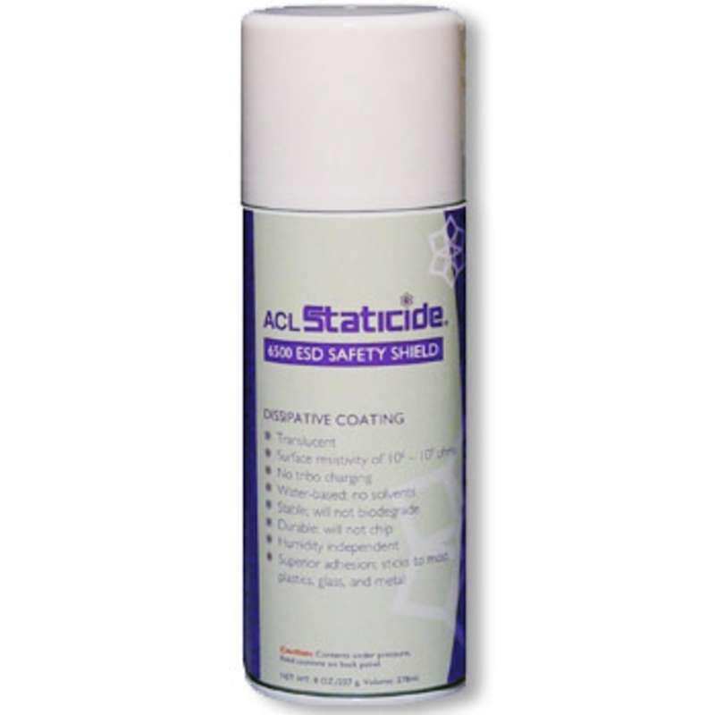 Clear Dissipative Safety Shield Staticide® Aerosol Coating, 8 oz.