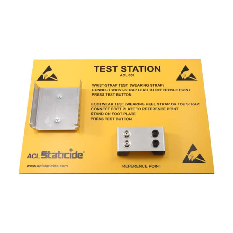 Wall Mount Station for the ACL 680 Wrist Strap and Footwear Tester