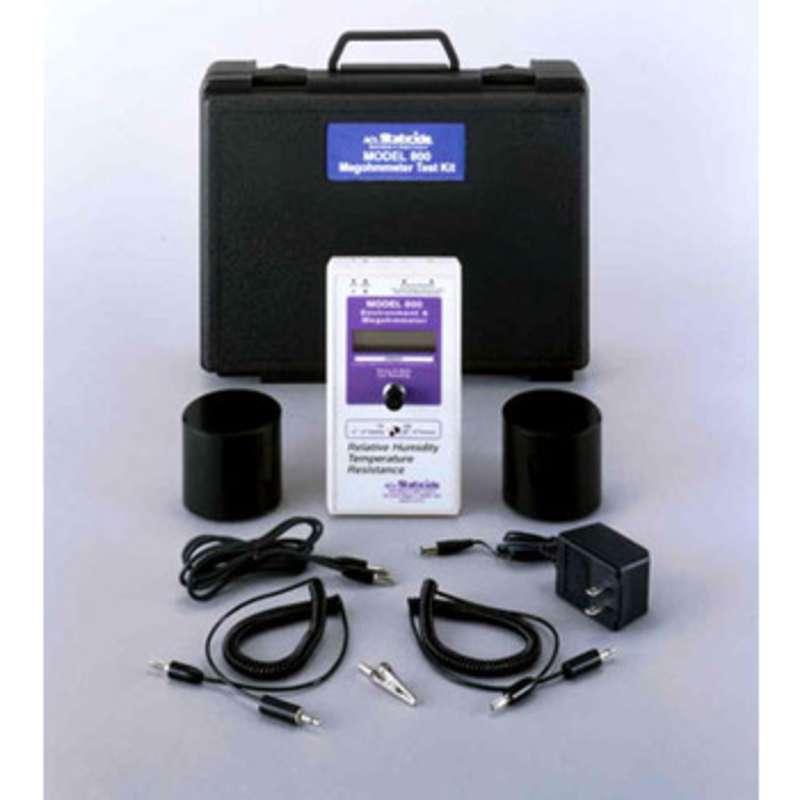 Digital Megohmmeter, Fahrenheit, Includes Tester, two 5-lb Probes, Cables, Case