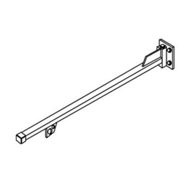 Wall and Floor Mounted 3' Swinging Jib (Includes Balancer Trolley, End Caps, and End Stops)
