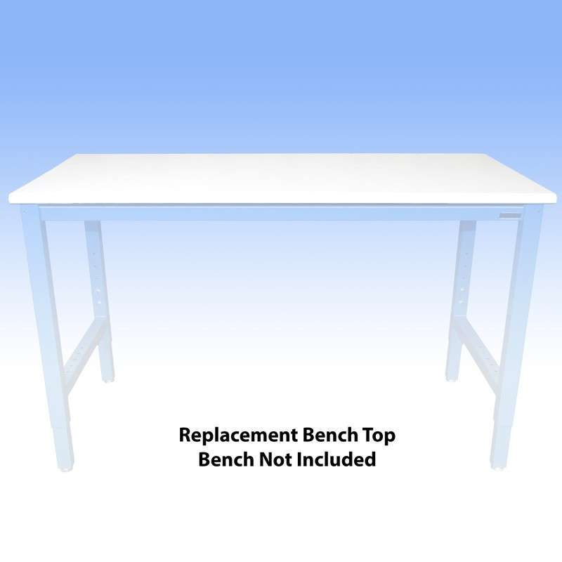 ESD-Safe Replacement Bench Top with Dissipative LisStat™ Laminate (Choose a Color), 30 x 60""
