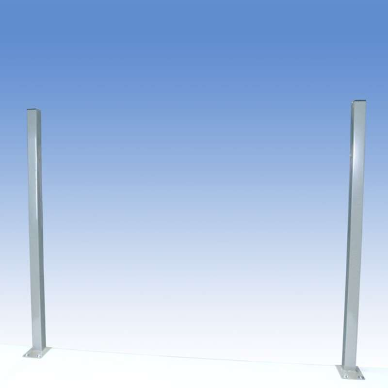 "Work Surface Mounted 36"" Uprights for Chemical Resistant Benches, Grey"