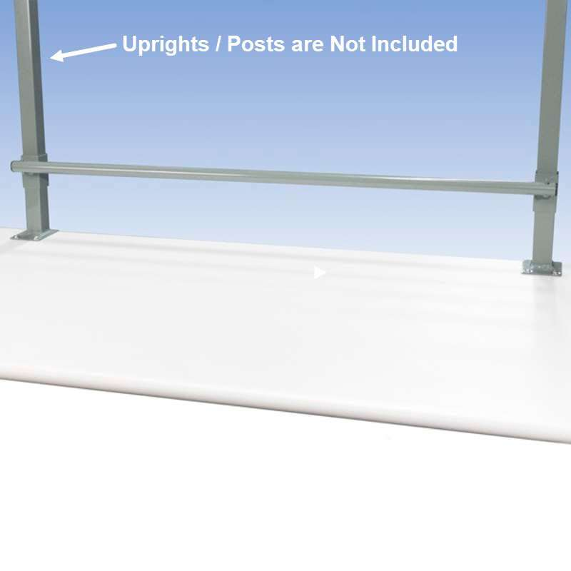 """Bubble Wrap and Label Roll Holder for All-Spec 180 Series 72"""" Chemical Resistant Benches, Grey"""