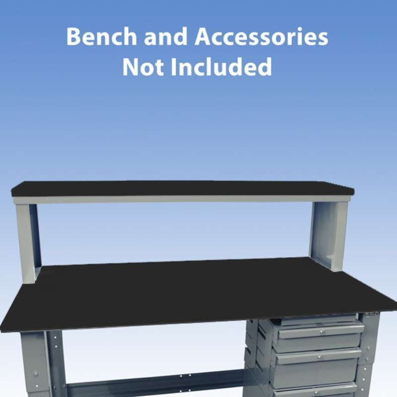 Non-ESD-Safe Instrument Shelf for Chemical Resistant Benches, Grey, 13 x 72""