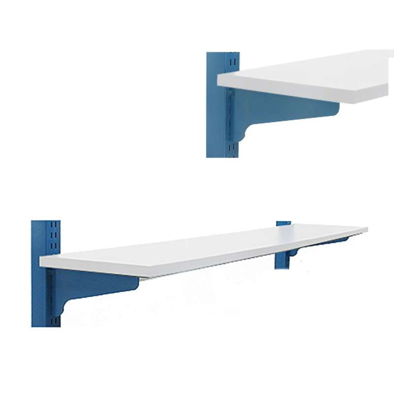 "Adjustable Chemical Resistant Phenolic Resin Shelf for 60"" and 120"" All-Spec Benches, White, 12 x 60"""