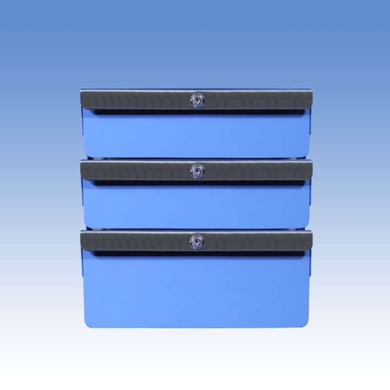 """Triple Stacked 2""""/2""""/4"""" Steel Drawers for All-Spec Heavy Duty Benches"""