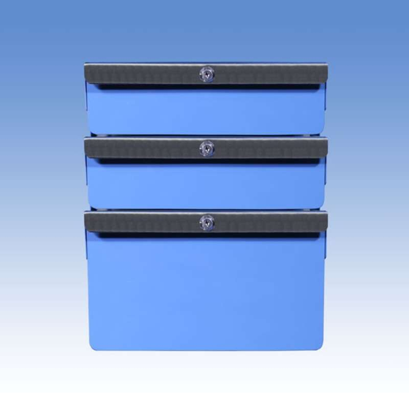 """Triple Stacked 2""""/2""""/6"""" Steel Drawers for All-Spec Heavy Duty Benches"""