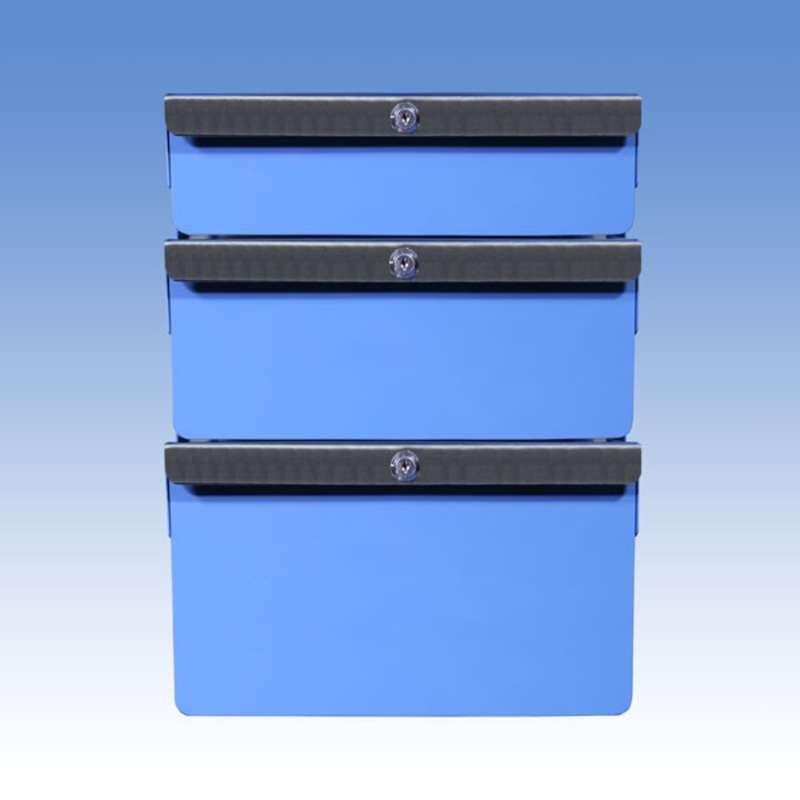 "Triple Stacked 2""/4""/6"" Steel Drawers for All-Spec Heavy Duty Benches"