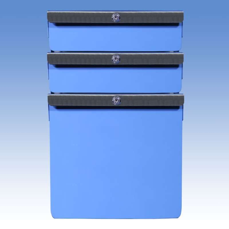 """Triple Stacked 2""""/2""""/12"""" Steel Drawers for All-Spec Heavy Duty Benches"""