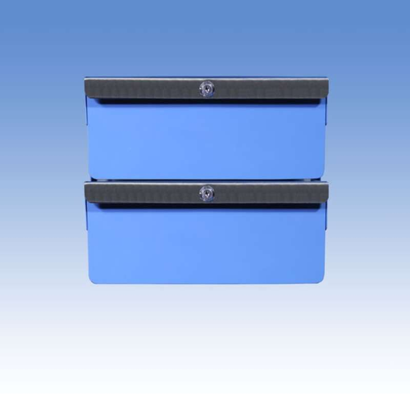 "Double Stacked 4""/4"" Steel Drawers for All-Spec Heavy Duty Benches"