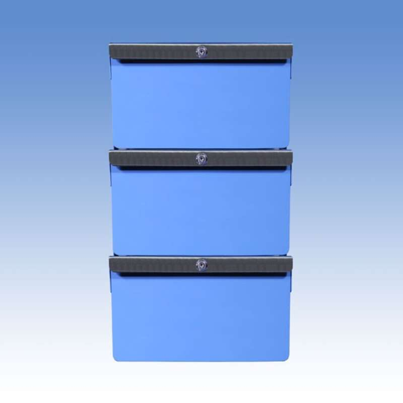 """Triple Stacked 6""""/6""""/6"""" Steel Drawers for All-Spec Heavy Duty Benches"""