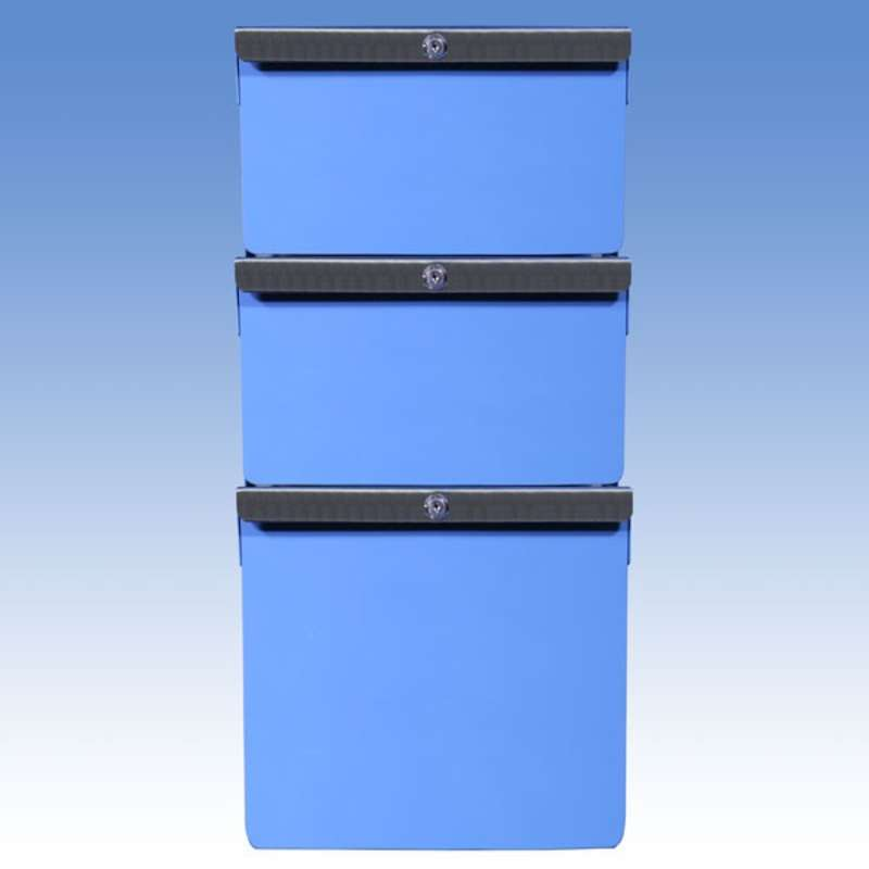 """Triple Stacked 6""""/6""""/12"""" Steel Drawers for All-Spec Heavy Duty Benches"""